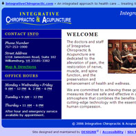 Screen capture of Integrative Chiropractic & Acupunture